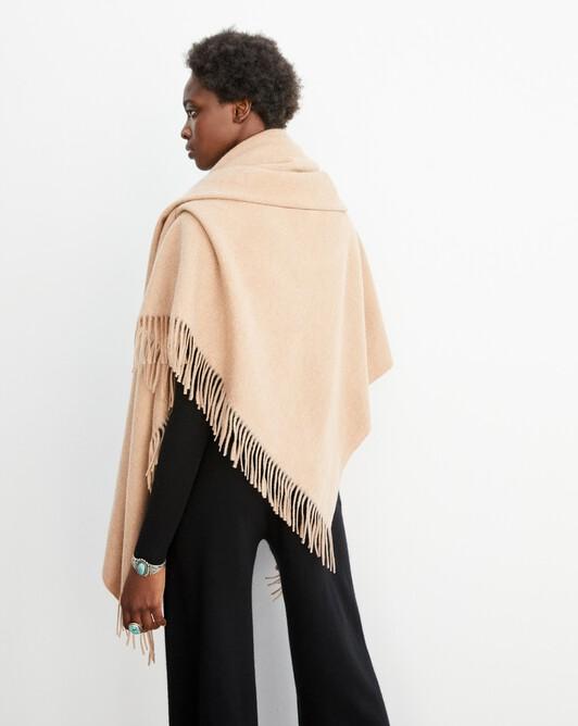 Plaid 150 cm x 150 cm - Camel