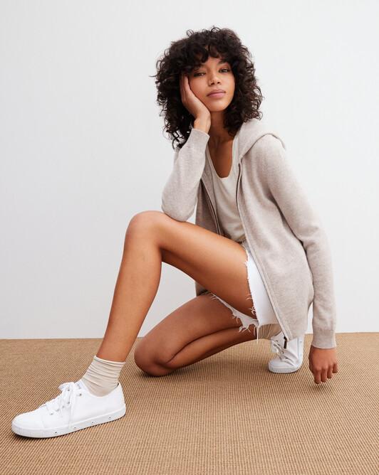Fitted hoodie - Latte