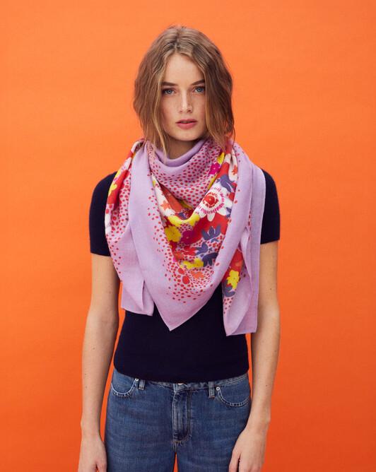 Santa monica square scarf 120 x 120 cm - Marshmallow