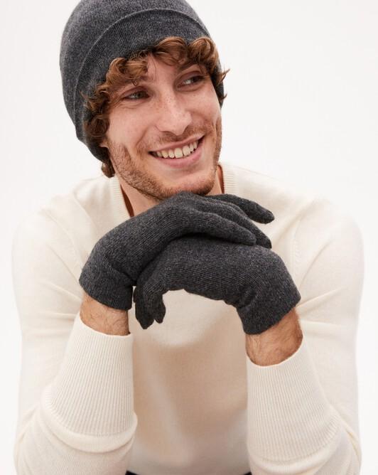 Men's gloves - Charcoal grey