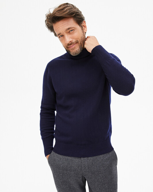 Classic roll-neck sweater - Navy blue