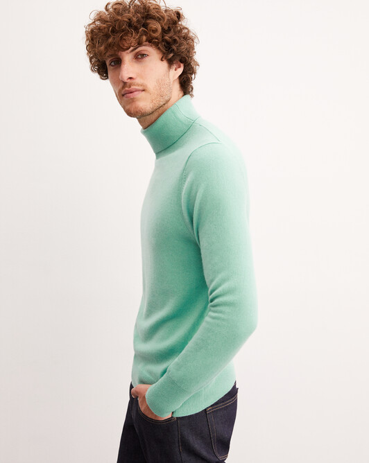 Classic roll-neck - Ice mint