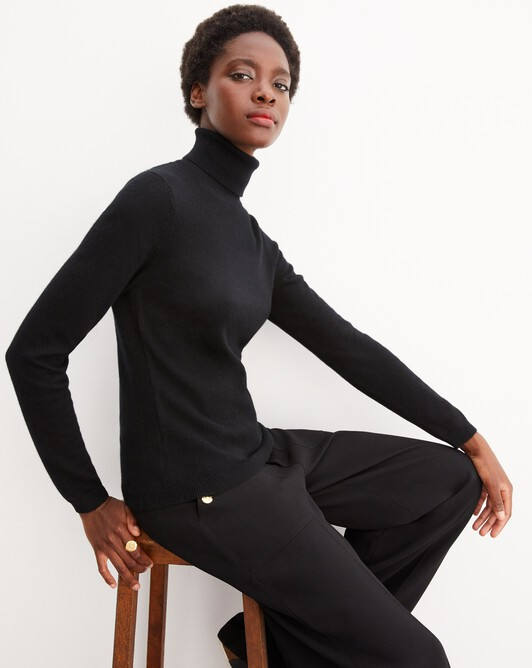 Fitted roll-neck - Black