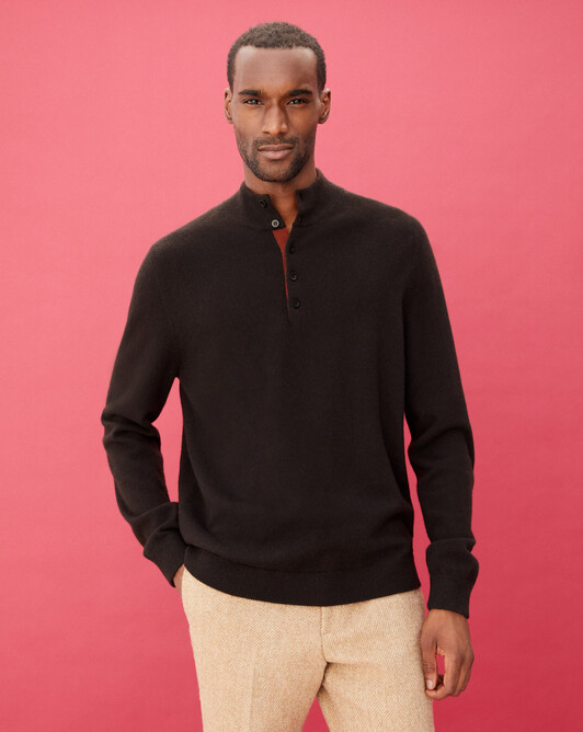 Sweat-shirt bicolore - Ebene/chataigne