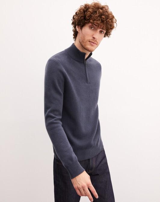 4-ply half-zip pullover - Incense