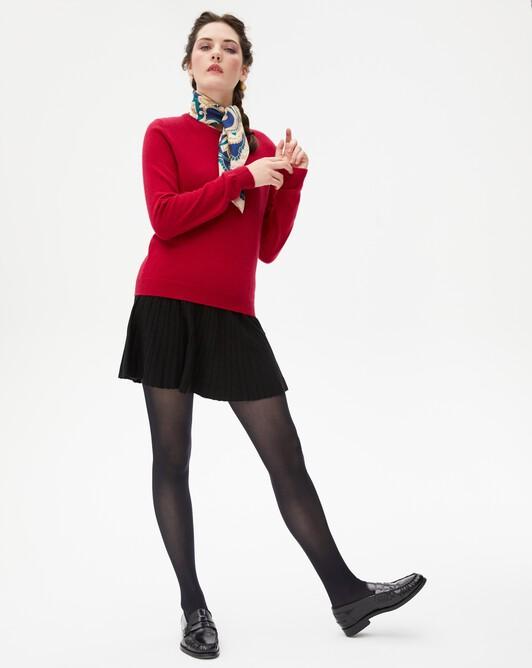 Silk pleated skirt - Black
