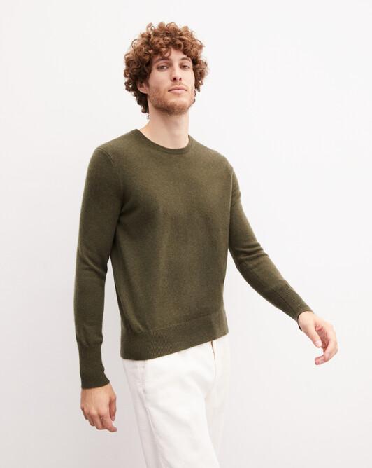 Classic crew neck pullover - Kale