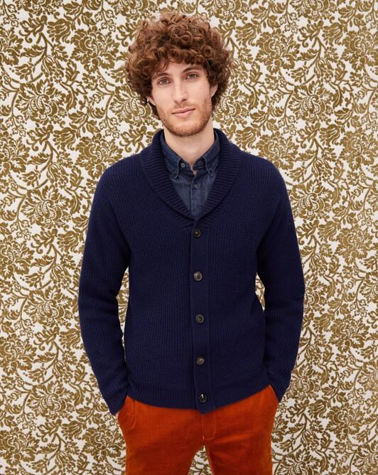 Shawl collar jacket - Navy blue