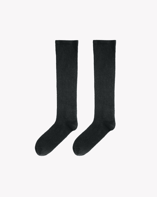 Plain long socks - Charcoal grey