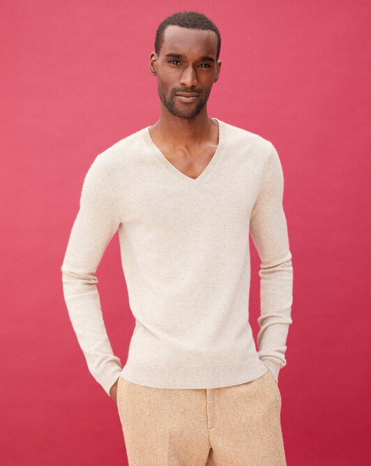 Fitted V-neck pullover - Zanskar