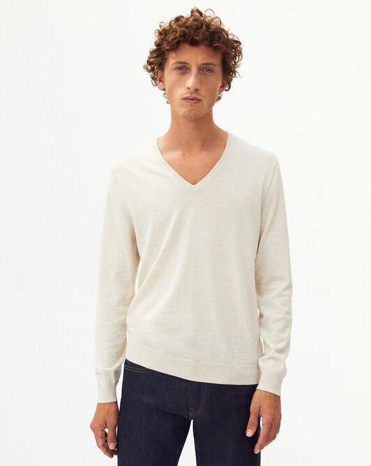 Summer V-neck sweater - Hemp