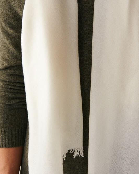 Giant cashmere voile stole 250 x 120 cm - Autumn white