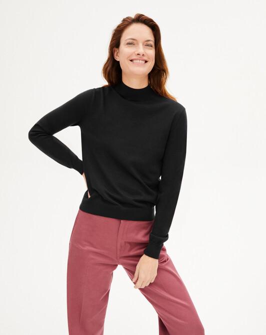 Contemporary turtleneck pullover - Black