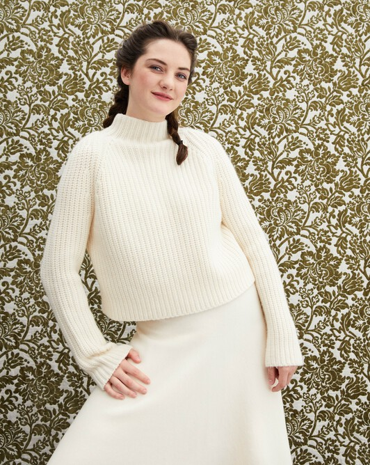 Ribbed turtleneck - Autumn white