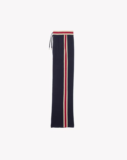 Pantalon finitions rayées - Marine