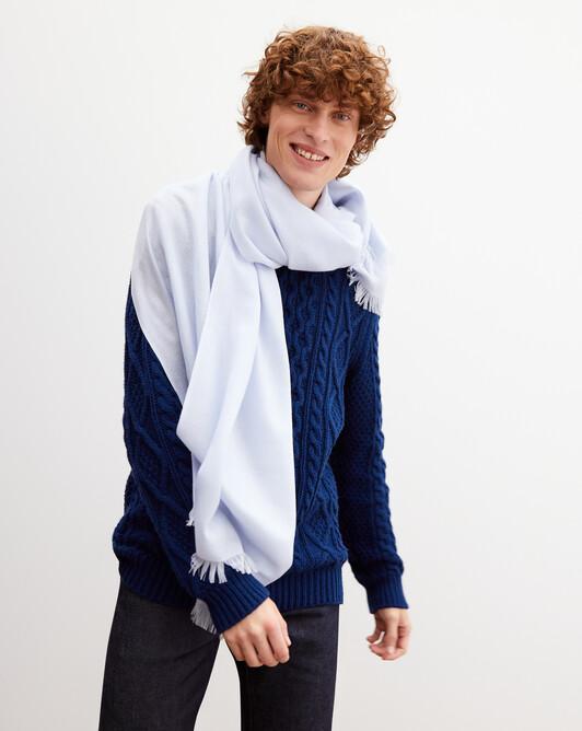 Cashmere voile stole 180 cm x 85 cm - Sky blue