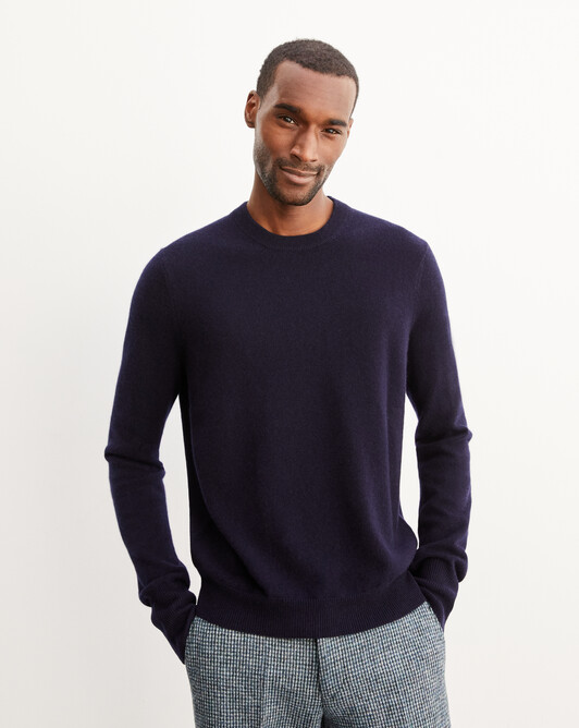 Classic crew neck pullover - Navy blue