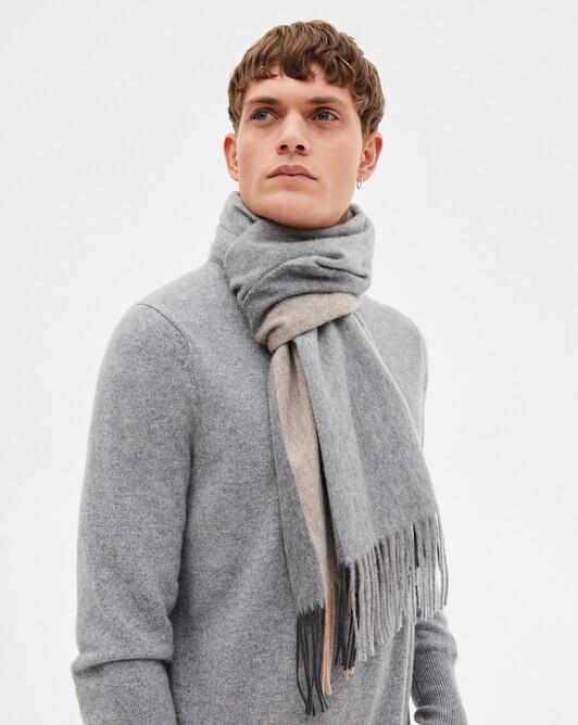 Striped scarf - Flannel grey