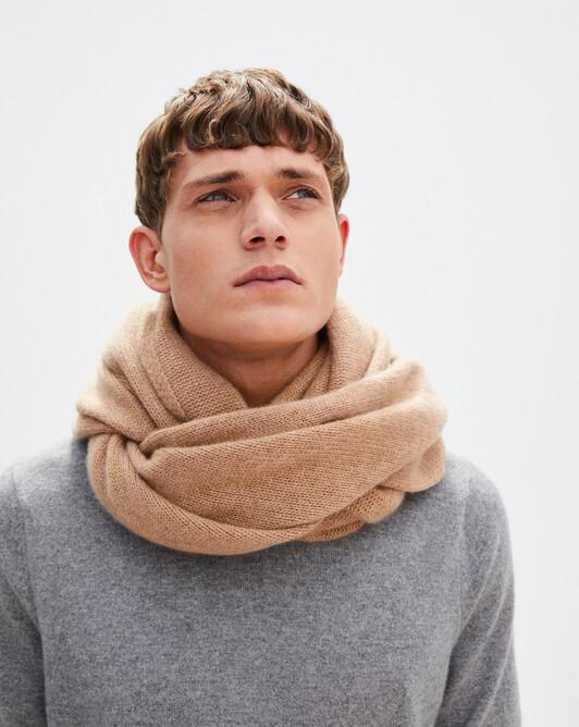 Tube tricoté 50 x 70 cm - Camel