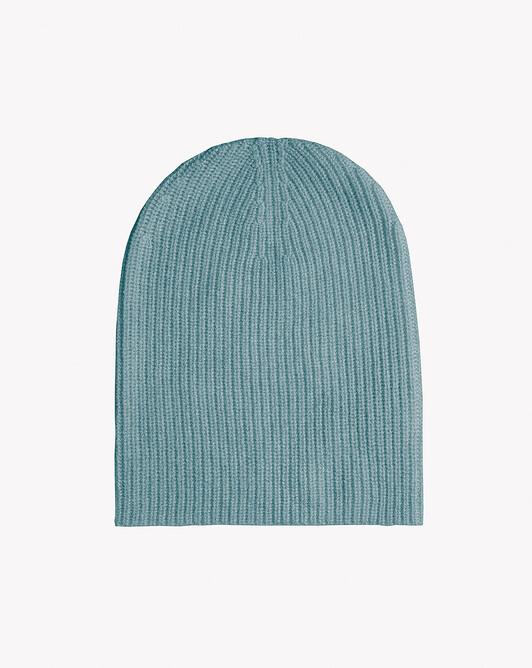 Half cardigan rib hat - Horizon