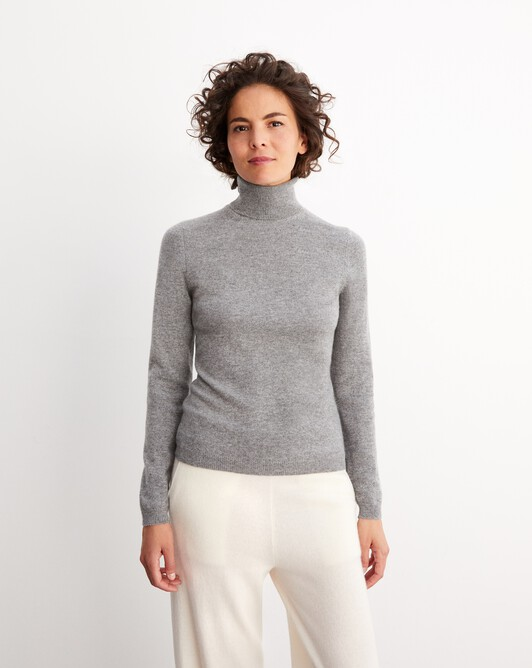Fitted roll-neck - Flannel grey