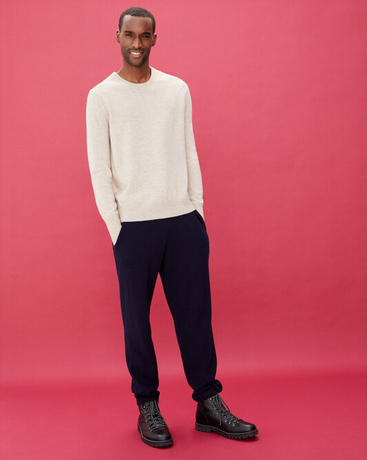 Casual jersey trousers - Navy blue