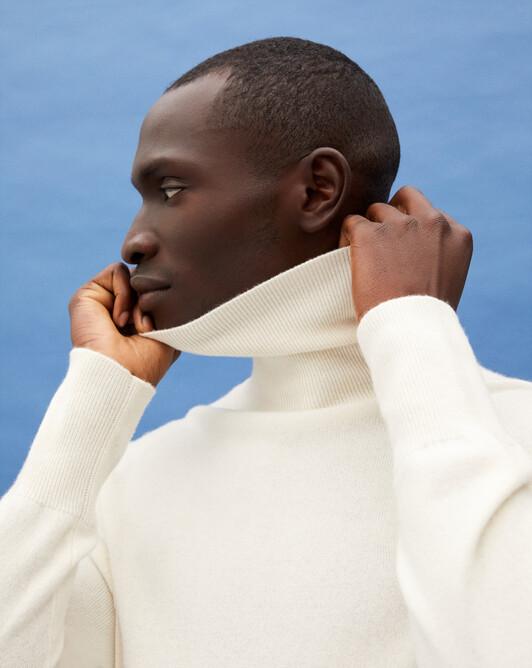 Classic roll-neck - Autumn white