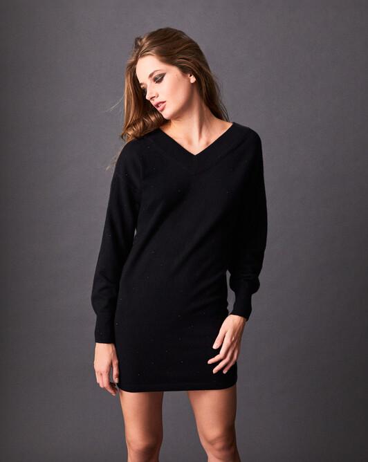 Robe V dénudée - Noir